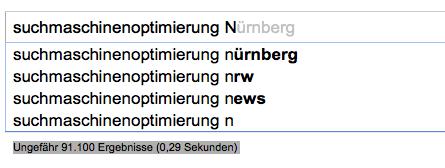google instant 2 - Suchmaschinenoptimierung und Google Instant